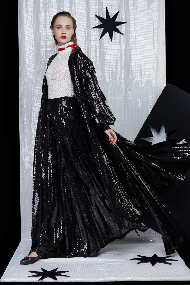 SEQUIN Pleated Trench