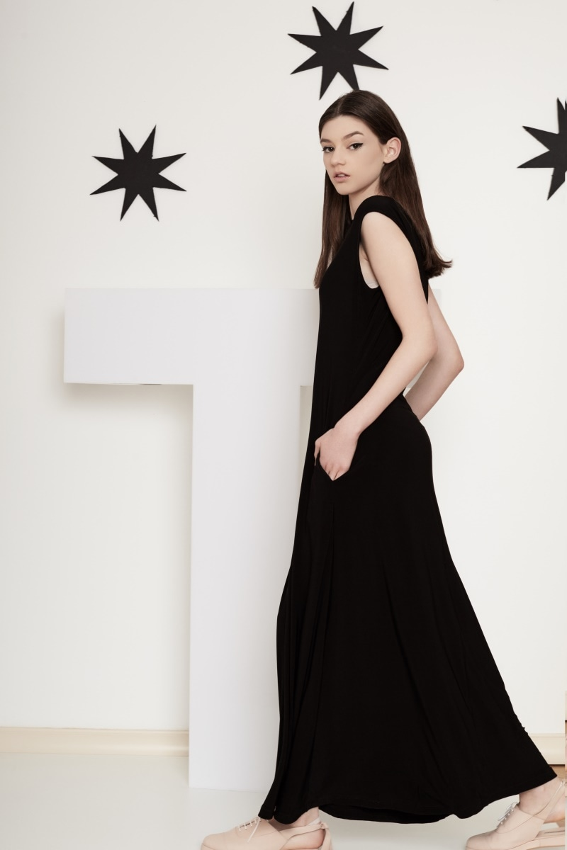 Long Poem black dress