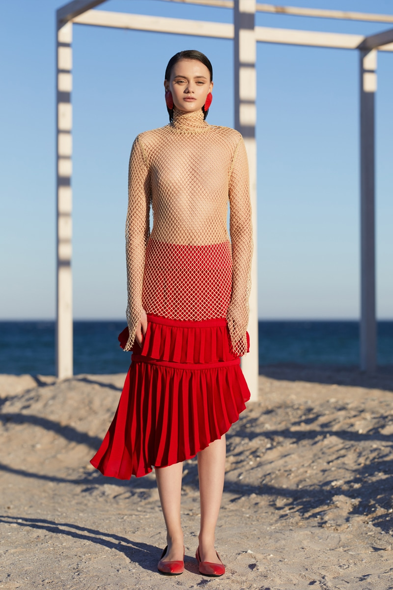 Red Pisces skirt