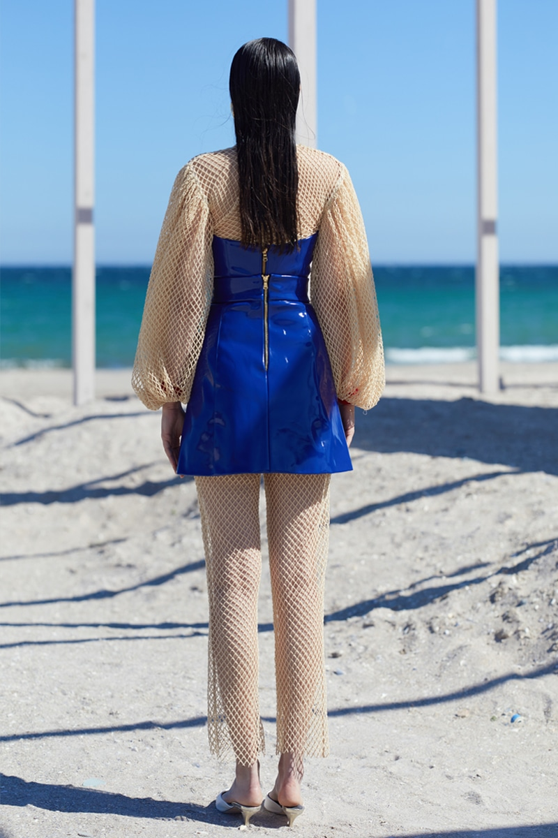Scuba top and skirt