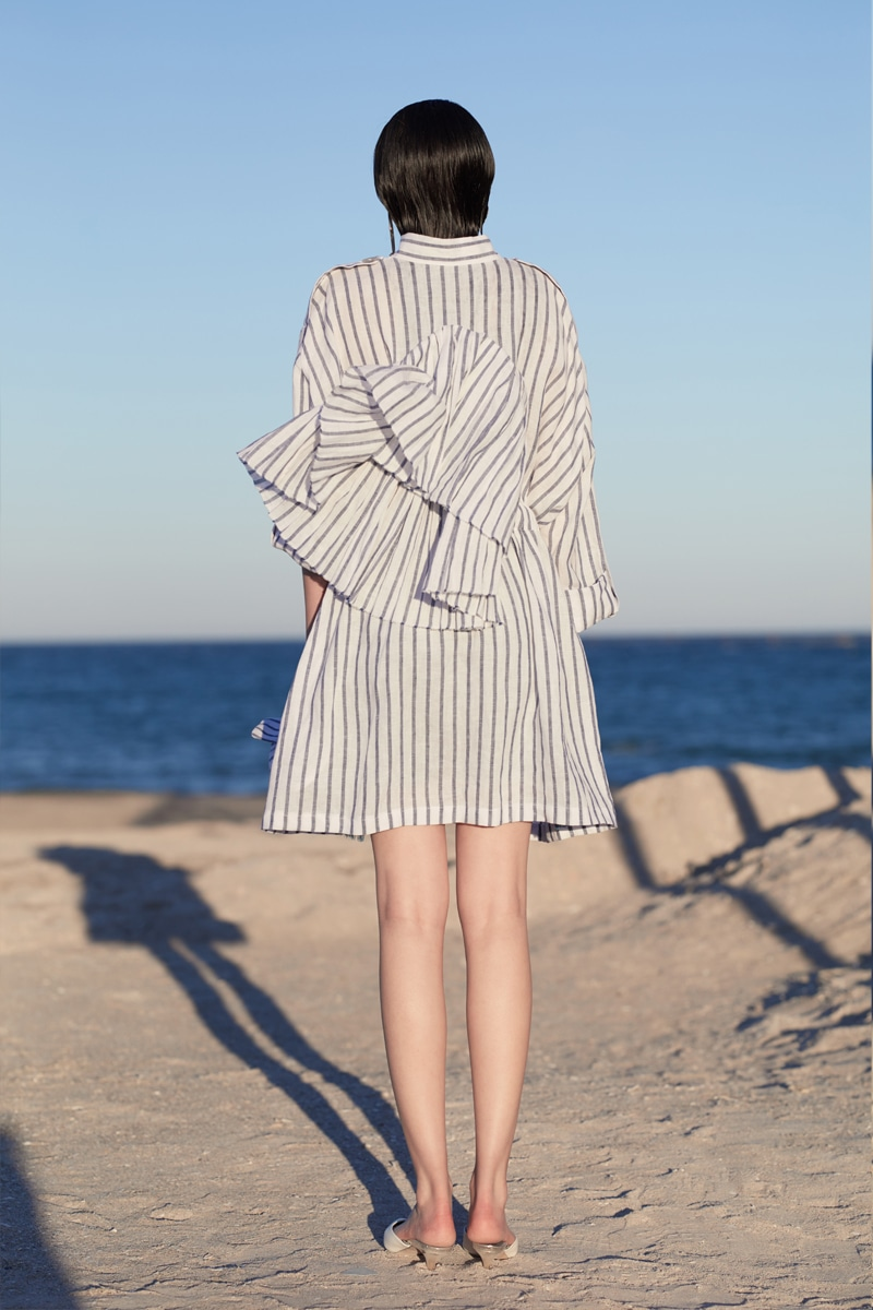 Sailor Stripe parka jacket
