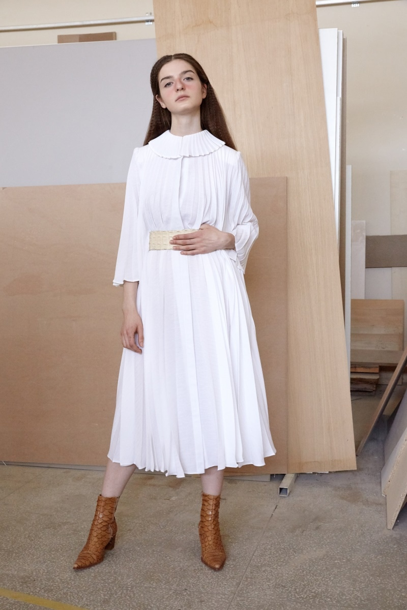Aurora pleated dress