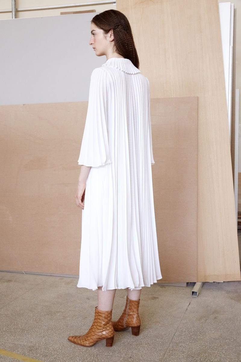 Aurora pleated dress