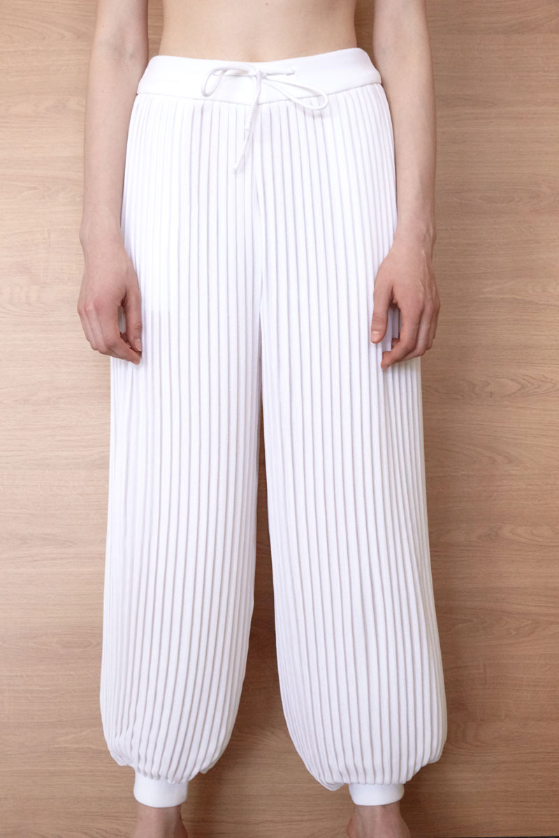 Andromeda pleated joggers