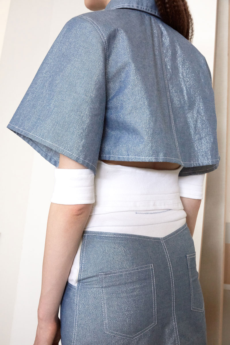Lyra glitter denim shirt