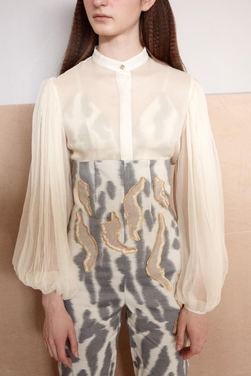 Leda silk chiffon shirt