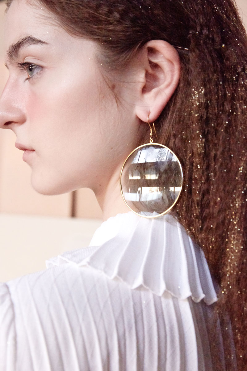Eyeglass maxi earrings