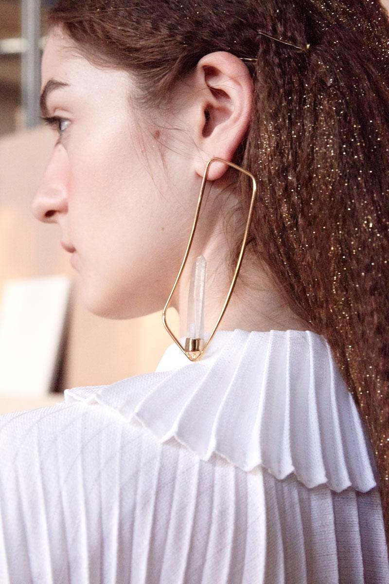 Quartz Charm earring