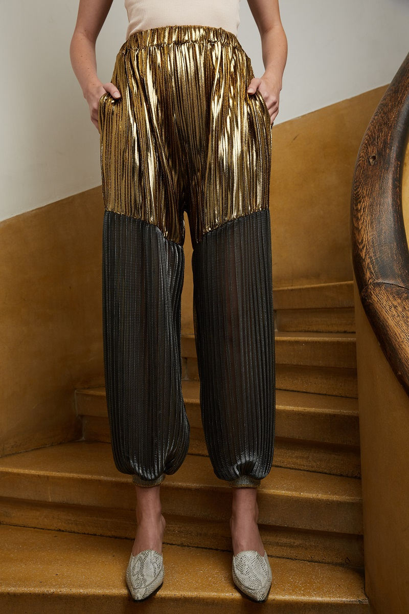 'Magic Armour' pleated trousers