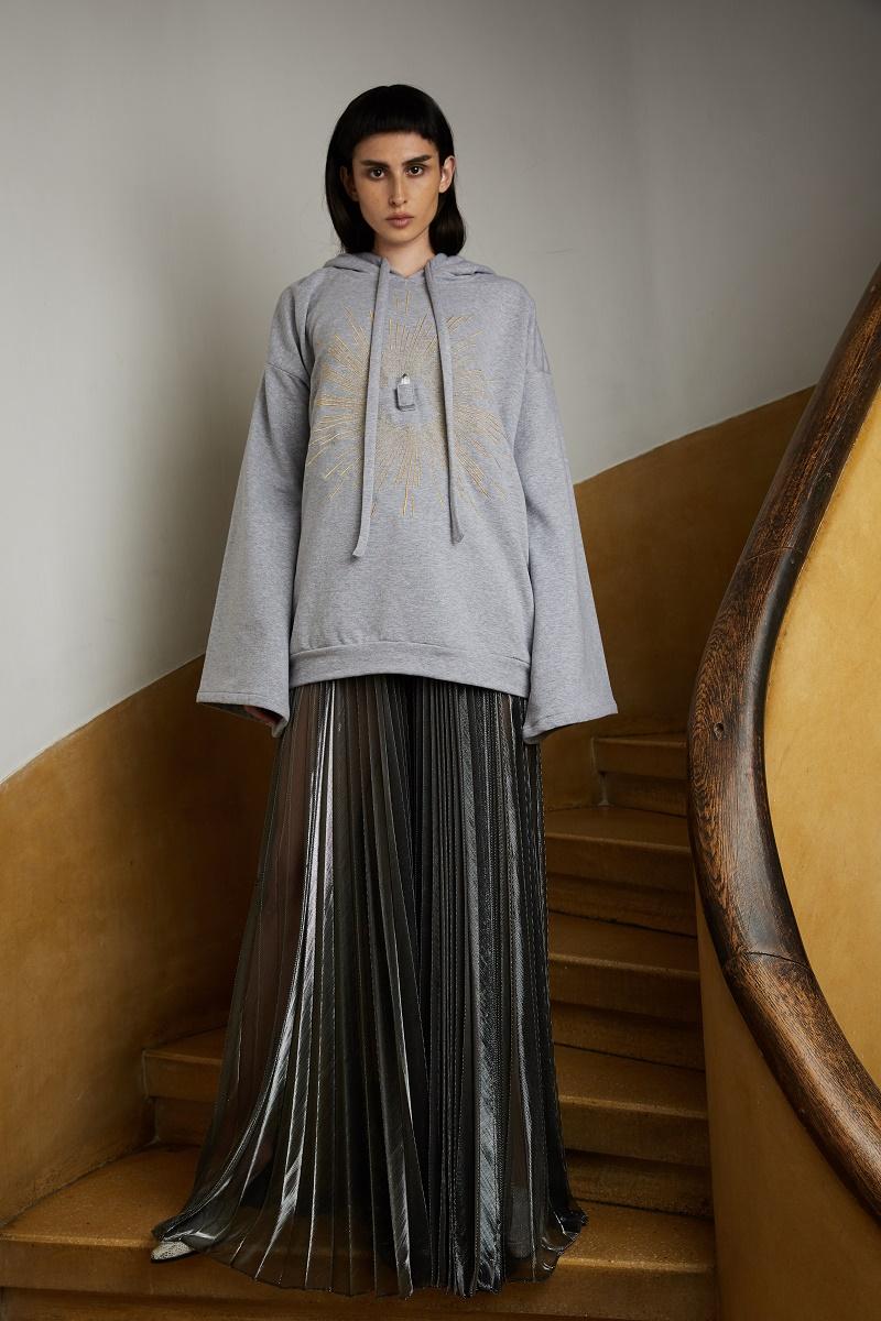 'Moonbeam' pleated trousers