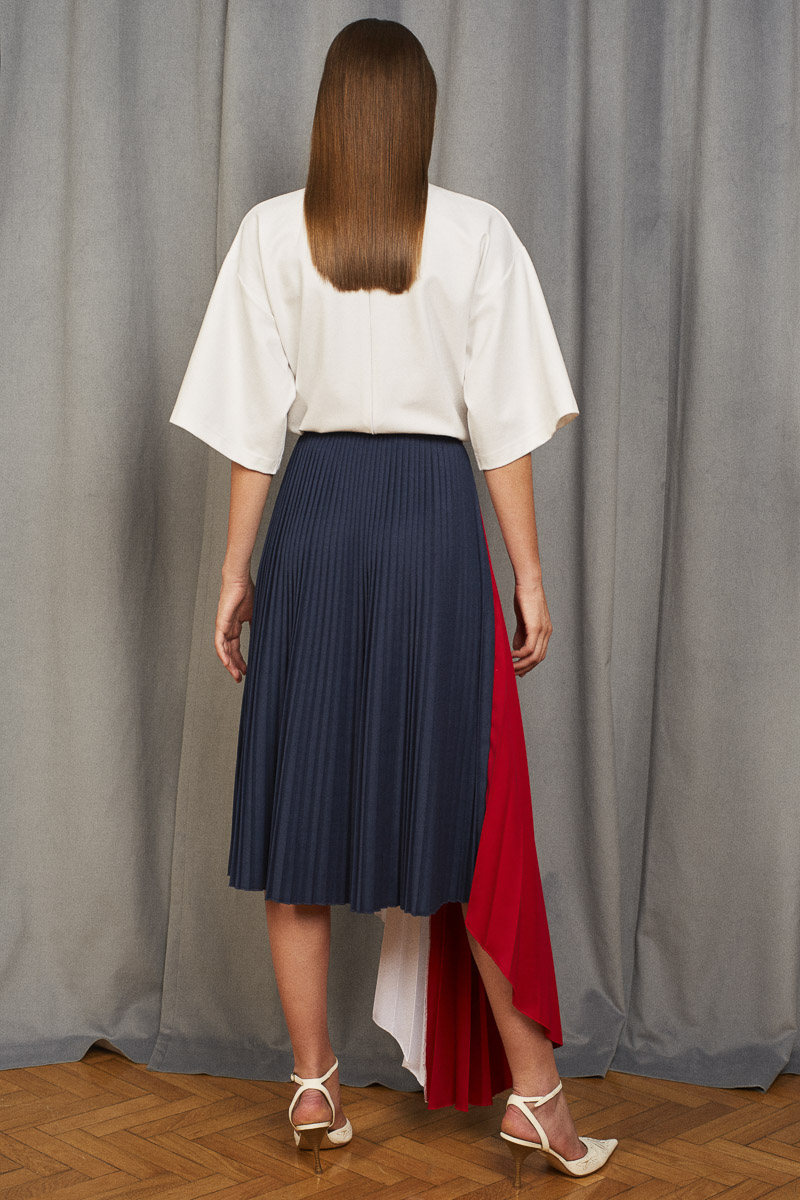 VEGA color-block skirt