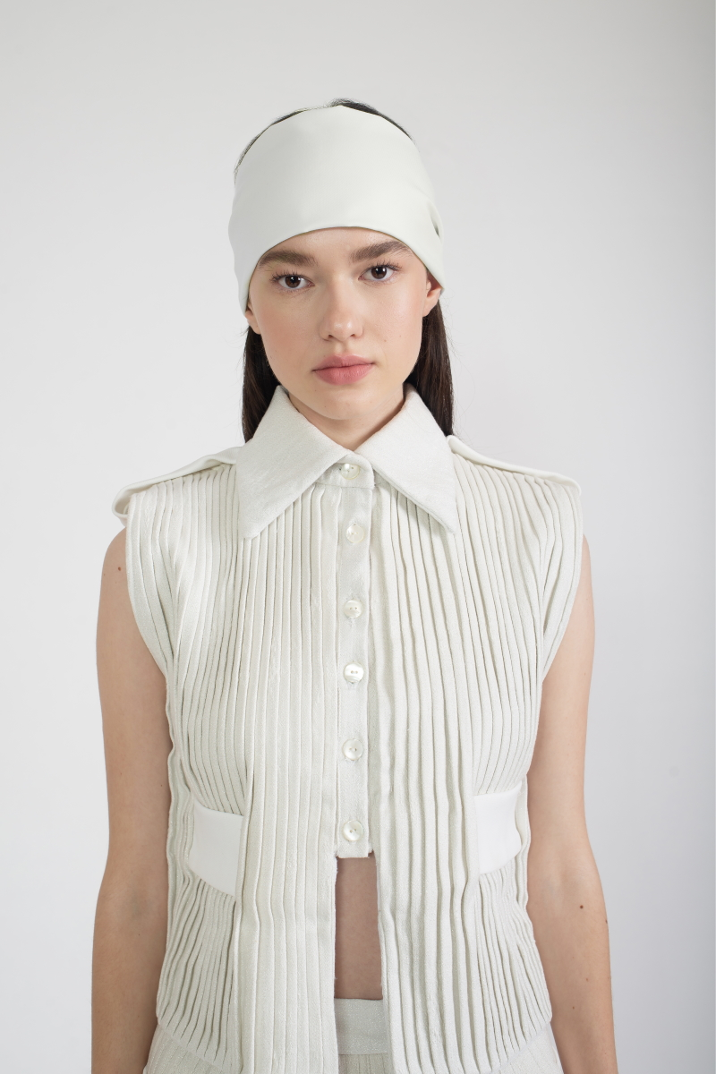 BAND AID pleated shirt