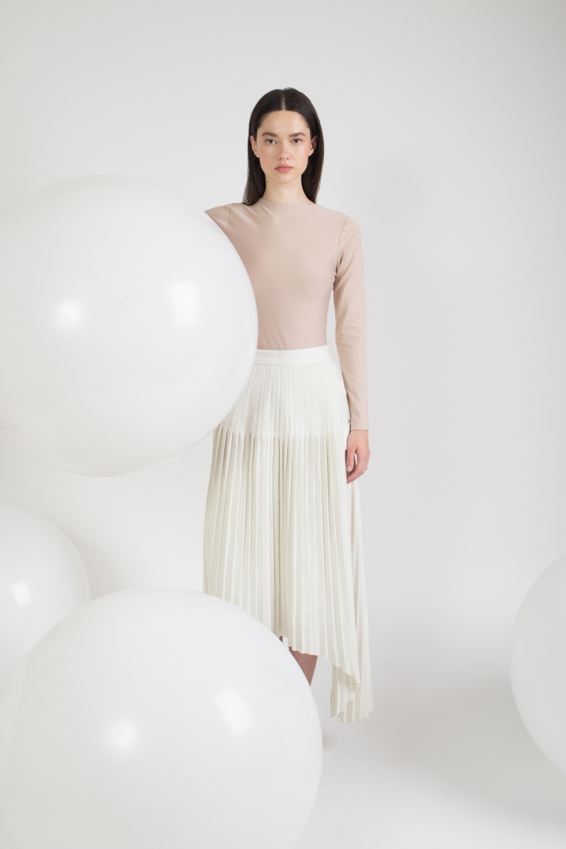 BAND AID pleated skirt
