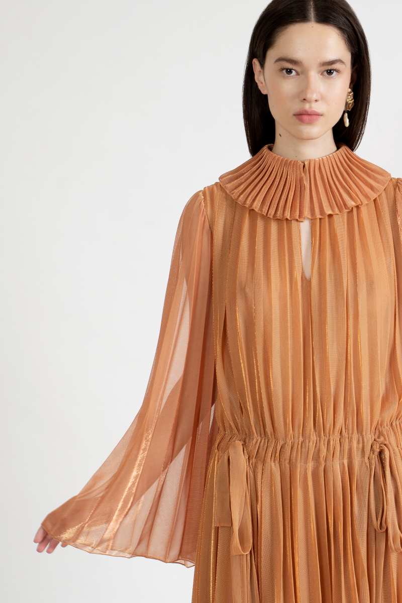 OTHERWORLDLY pleated dress