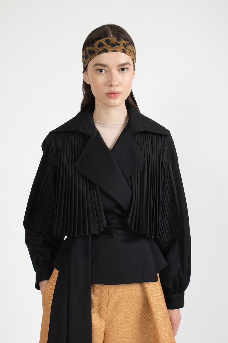 SUNFALL pleated jacket