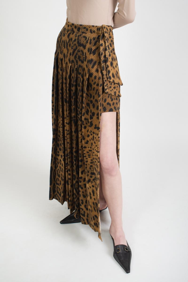 LOVEMARK animal-print skirt