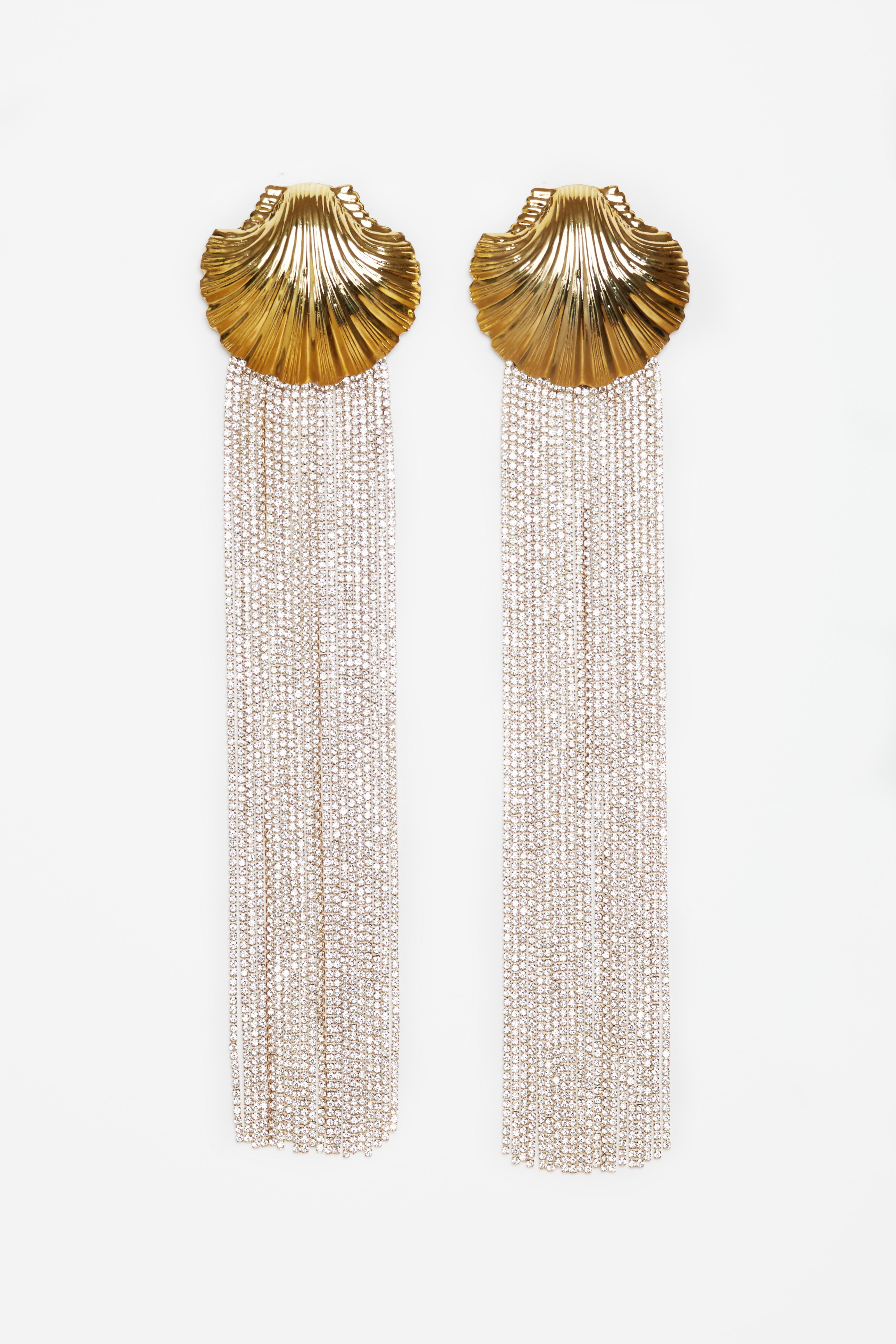 GOLD VENUS EARRINGS