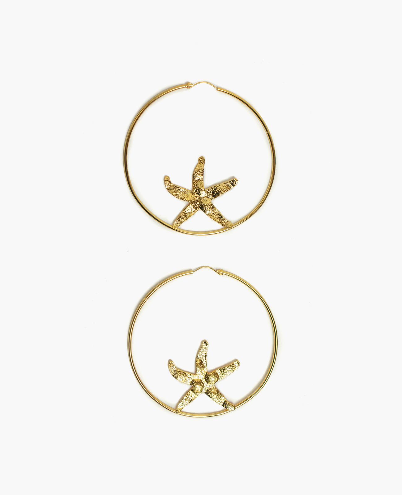 SEA STAR hoop earrings
